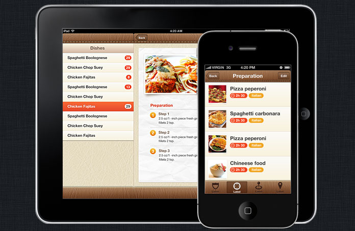 Foody iphone and ios app ui design templates for Home design apps for ipad