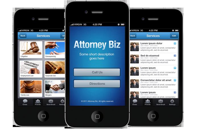 Biz App Iphone And Ios App Ui Design Templates