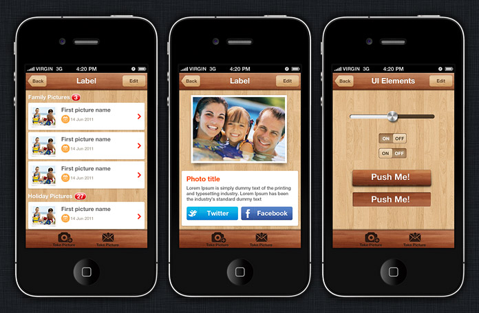 iphone apps templates