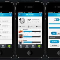 Fitpulse | iPhone and iOS App UI Design Templates