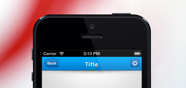 iphone app开发导航条(navigation bar)素材psd下载