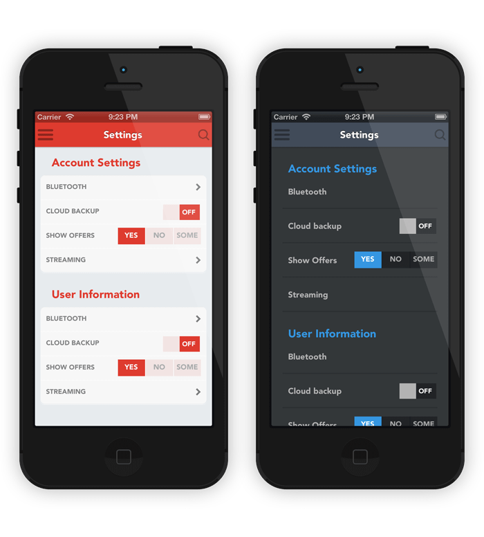 iOS Flat Design UI Patterns - Download Now | iPhone and iOS App UI ...