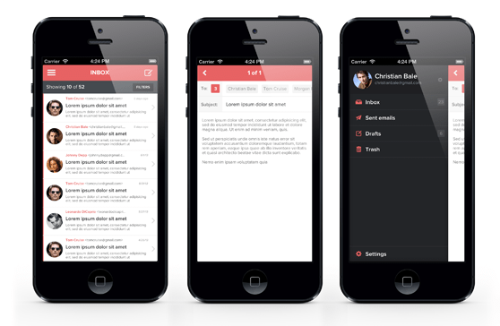 Flattened Iphone And Ios App Ui Design Templates