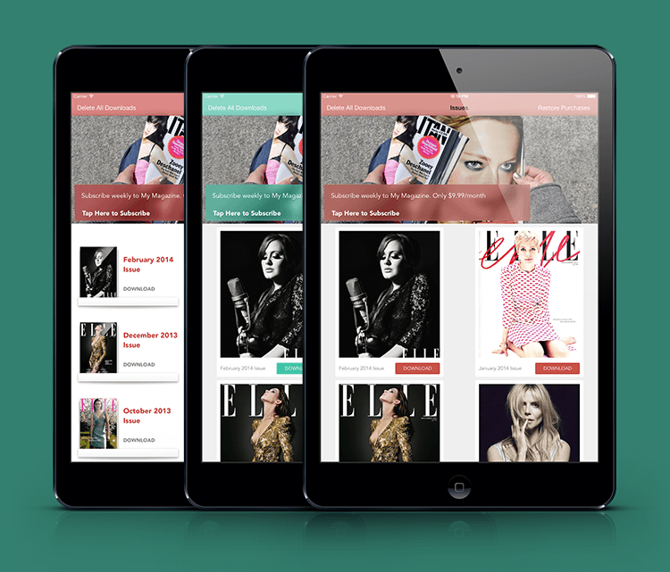 Newsstand Iphone And Ios App Ui Design Templates