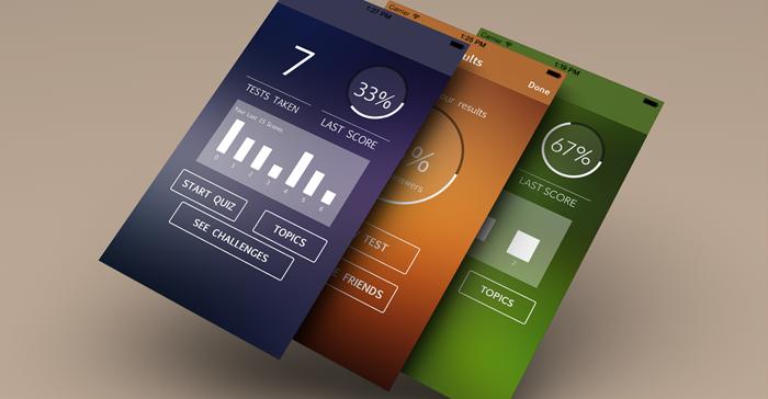 quiz maker iphone and ios app ui design templates