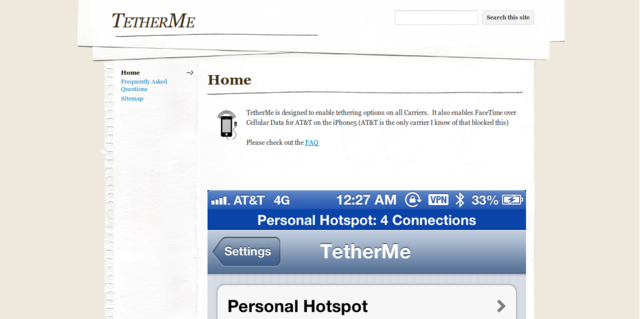 TetherMe: Turn Your iPhone Into a Hotspot
