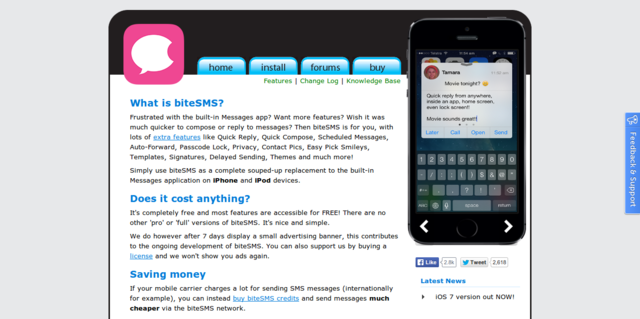 biteSMS: Advanced Messaging App