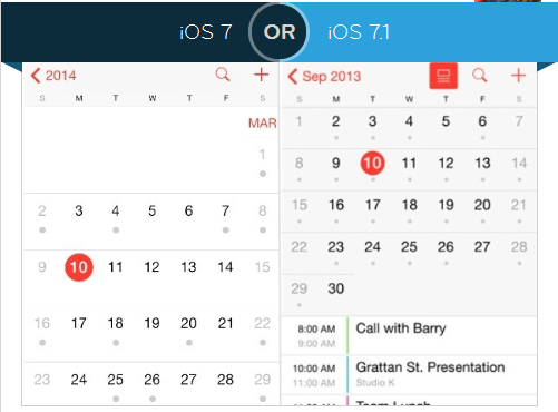 iOS 7.1 Calendar Changes